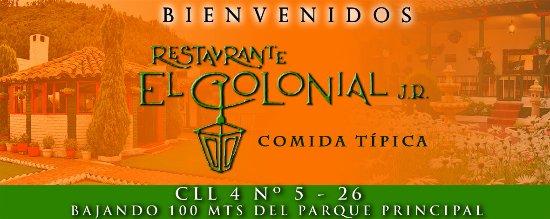 Nemocon, Колумбия: Restaurante con más de 20 años de tradición, ubicado en la mas bella casa colonial del municipio