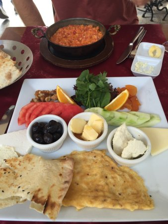 Albura Kathisma: Turkish Breakfast w/ Ottoman omelet in background