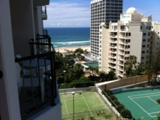 Mantra on View Hotel: from our room you can see the whole town and beach, tenniscourts, swimmingpools.