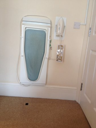 The Guesthouse East: Ironing board behind the door