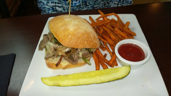 Leominster, MA: Shaved steak and sweet potato fries