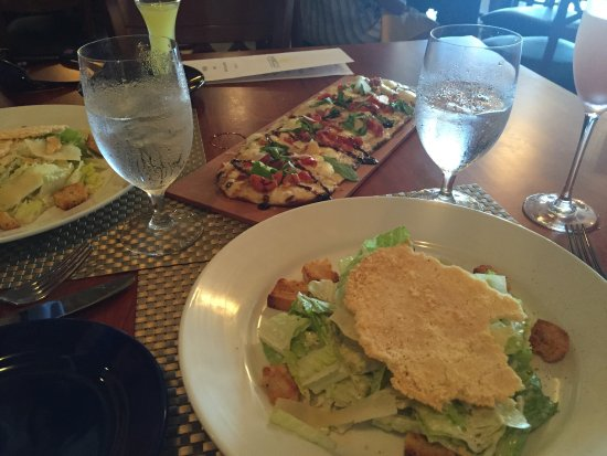 Saint Michaels, MD: Ceaser salads and flatbread pizza