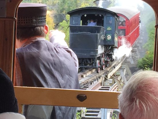 Bretton Woods, NH: Waiting at the switch for the Steam Train to pass by