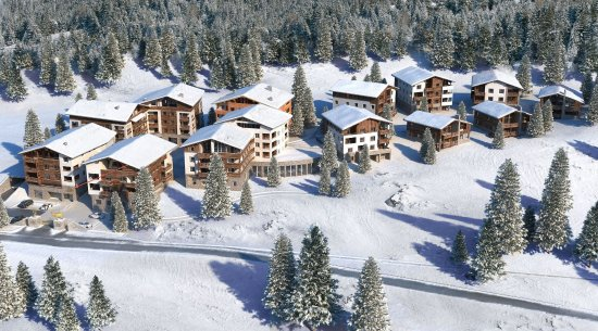Lenzerheide, Switzerland: winter exterior view