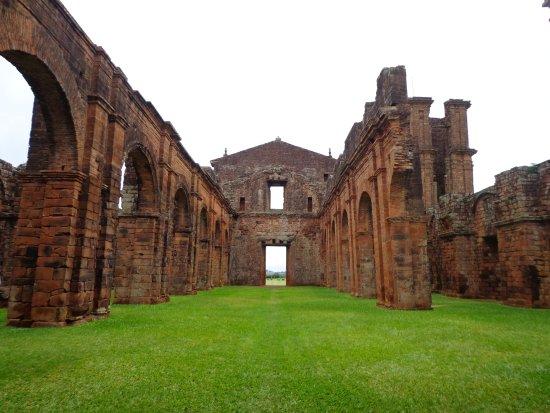 Ruins of Sao Miguel das Missoes: Visão interna da nave