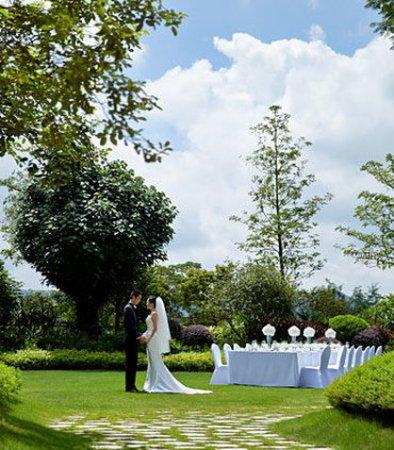 Huizhou, China: Outdoor Wedding Setup