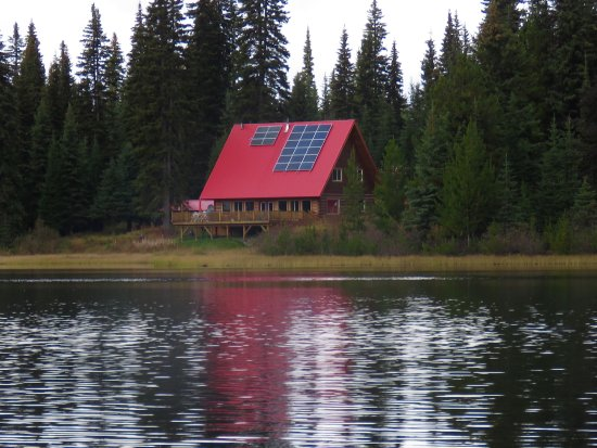 Meadow Lake Fishing Camp : The lodge from one of the many lakes