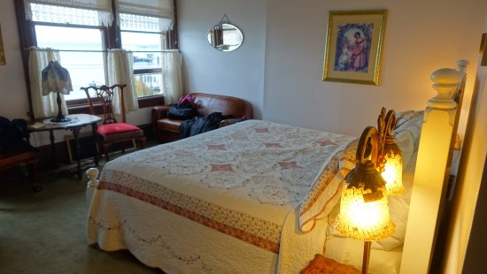 "Palace Hotel Port Townsend: ""Miss Lou"" has a king-sized bed and a view of the bay"