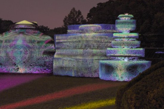 Kennett Square, PA: musical movement and lights on sculptured bushes