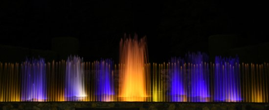 Kennett Square, PA: fountain at night