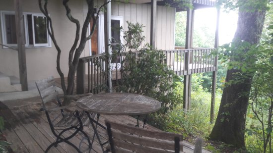 Fire Mountain Inn : Deck around Laurel Tree house