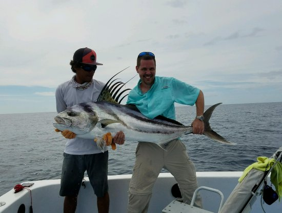 75 lb rooster fish picture of papagayo sportfishing for Rooster fish pictures