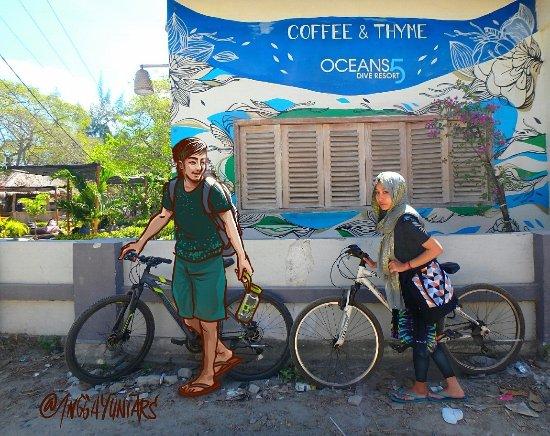Gili Islands, Indonesia: Naik sepeda disini cukup populer