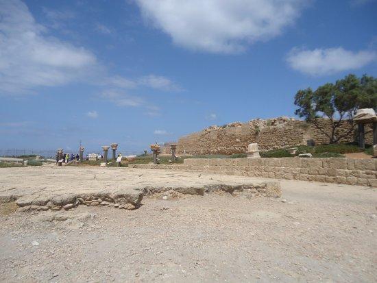Cesarea, Israel: ruins outside anphitheatre