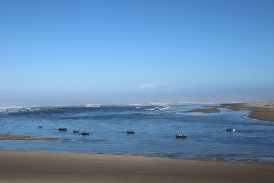 Waldport, OR: Fishing Boats at low tide