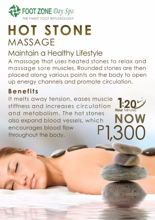 San Juan, Philippinen: Hot Stone Massage- Footzone Day Spa