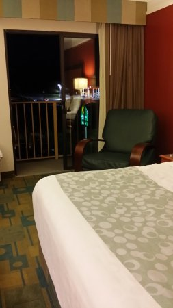 Kingsport, TN: That's the balcony and railing beyond the comfy chair.