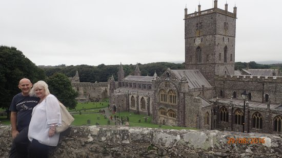 St. Davids, UK: Looking down to the Cathedral