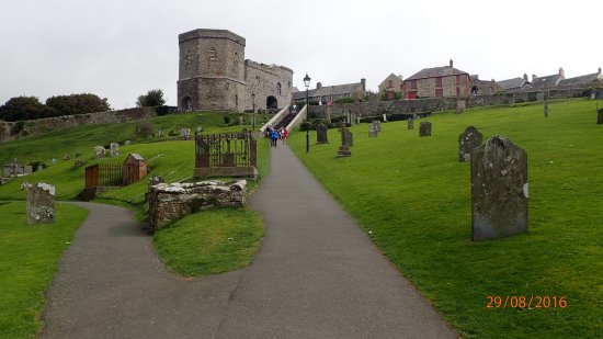 St. Davids, UK: And looking up to the steps. Remember to count them Down and back Up.