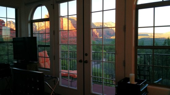 The Penrose B&B: The amazingly scenic view from the Javelina room. The balcony was enjoyed, too.