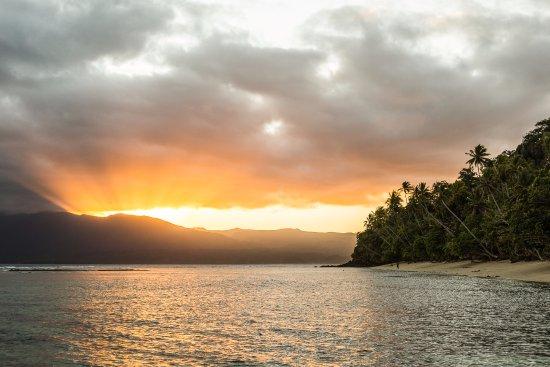 Qamea Island, Fiji: Maqai Sunset