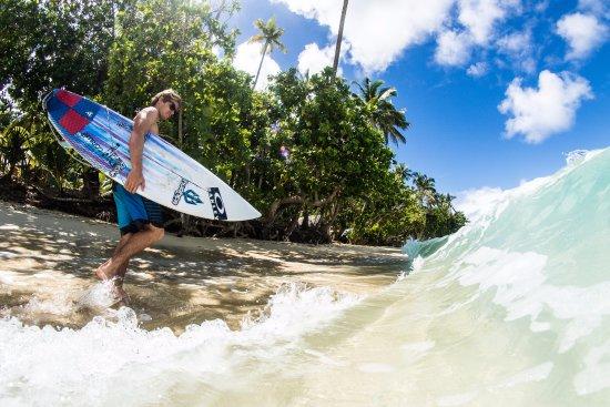 Qamea Island, Fiji: To the Surf