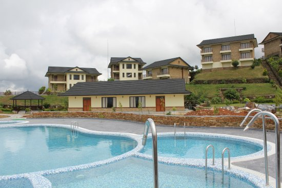 Pool And Huses With Rooms Picture Of Rupakot Resort Pokhara Tripadvisor