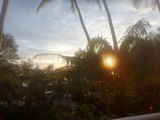 BEST WESTERN Phuket Ocean Resort: On our balcony at sunset - lower level room