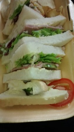 Hawkhurst, UK: £7.00 for this take away ham salad sandwich which find quite expensive!!