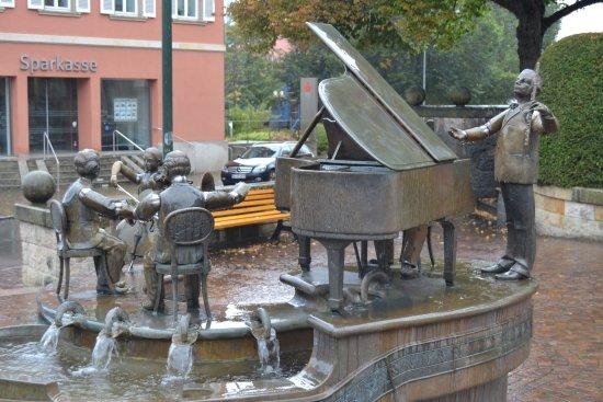 Waldblick Hotel: Une fontaine qui ne manque pas d'originalité