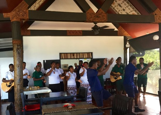 Yasawa Islands, Fiji: Breakfast greeting each morning