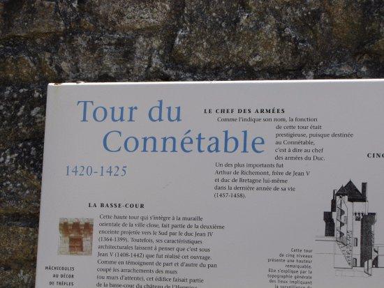 Remparts de Vannes : explicatif sur la tour