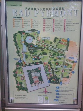 Bad Pyrmont, Niemcy: План парка вокруг замка