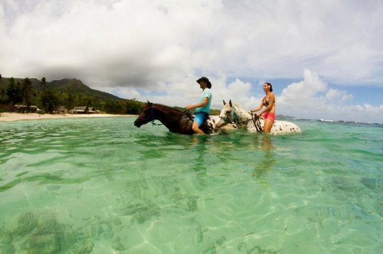 Pulau Mahe, Seychelles: Magical memories created with your loved one on horseback.