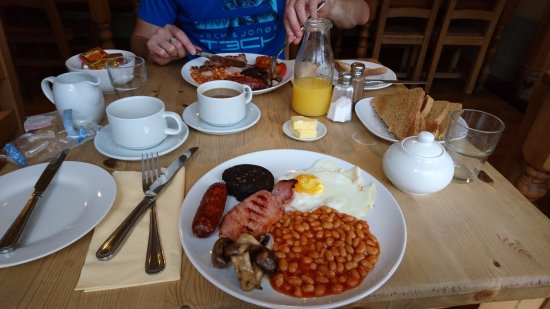 Amlwch, UK: My 'small' breakfast!