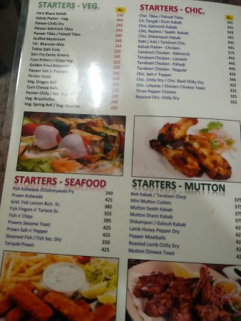 Menu picture of khana khazana mumbai tripadvisor khana khazana menu forumfinder Gallery