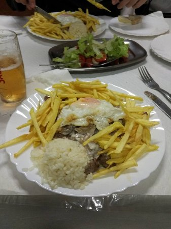 Castro Verde, Portugal: Beef and mushrooms