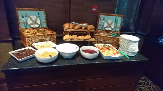 Leyland, UK: part of the breakfast buffet
