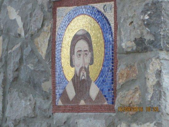 Tivat Municipality, Montenegro: Фрески на входе в монастырь