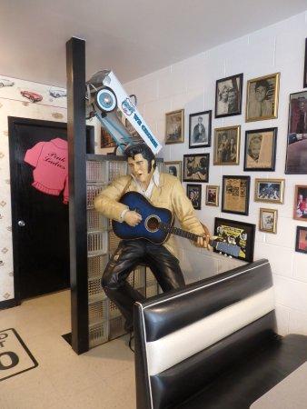 Braidwood, IL: Elvis life size model in the corner