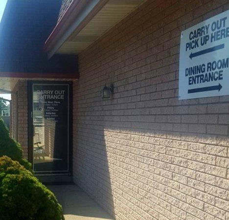 Warren, MI : separate door for carry out