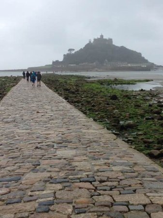 Marazion, UK : The causeway out to the castle