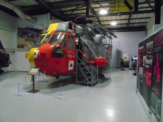Ilchester, UK: Air Sea Rescue Westland Sea King Helicopter.