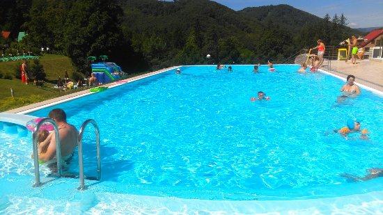 Vyhne, สโลวะเกีย: bazén s výhledem na lesy