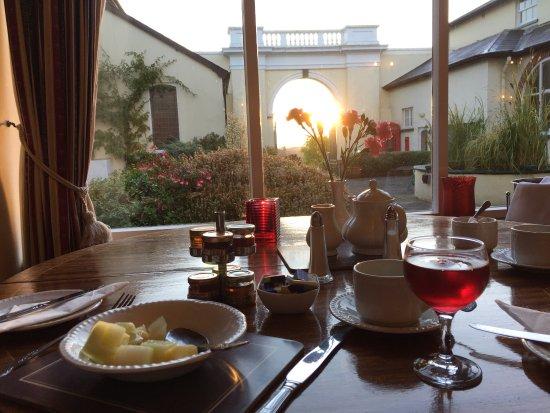 Dunchideock, UK: Breakfast in the sun