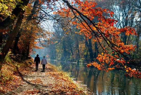 Bucks County, Pennsylvanie : Delaware Canal Towpath
