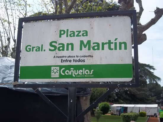 Canuelas, Argentina: Cartel informativo municipal