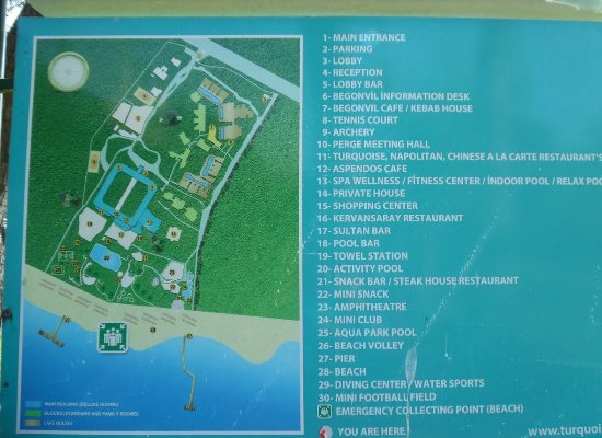 Plattegrond Picture of Turquoise Resort Hotel Spa Side