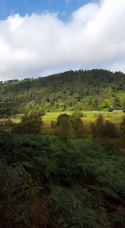 Glendalough Monastic Settlement : Looking at the meadow and watching the sun shine from behind the clouds was gorgeous.