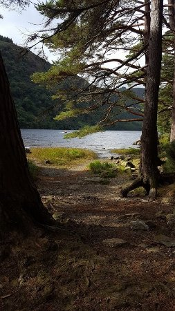 Glendalough Monastic Settlement : The lake was the most beautiful part. I caught a glimpse through some trees.
